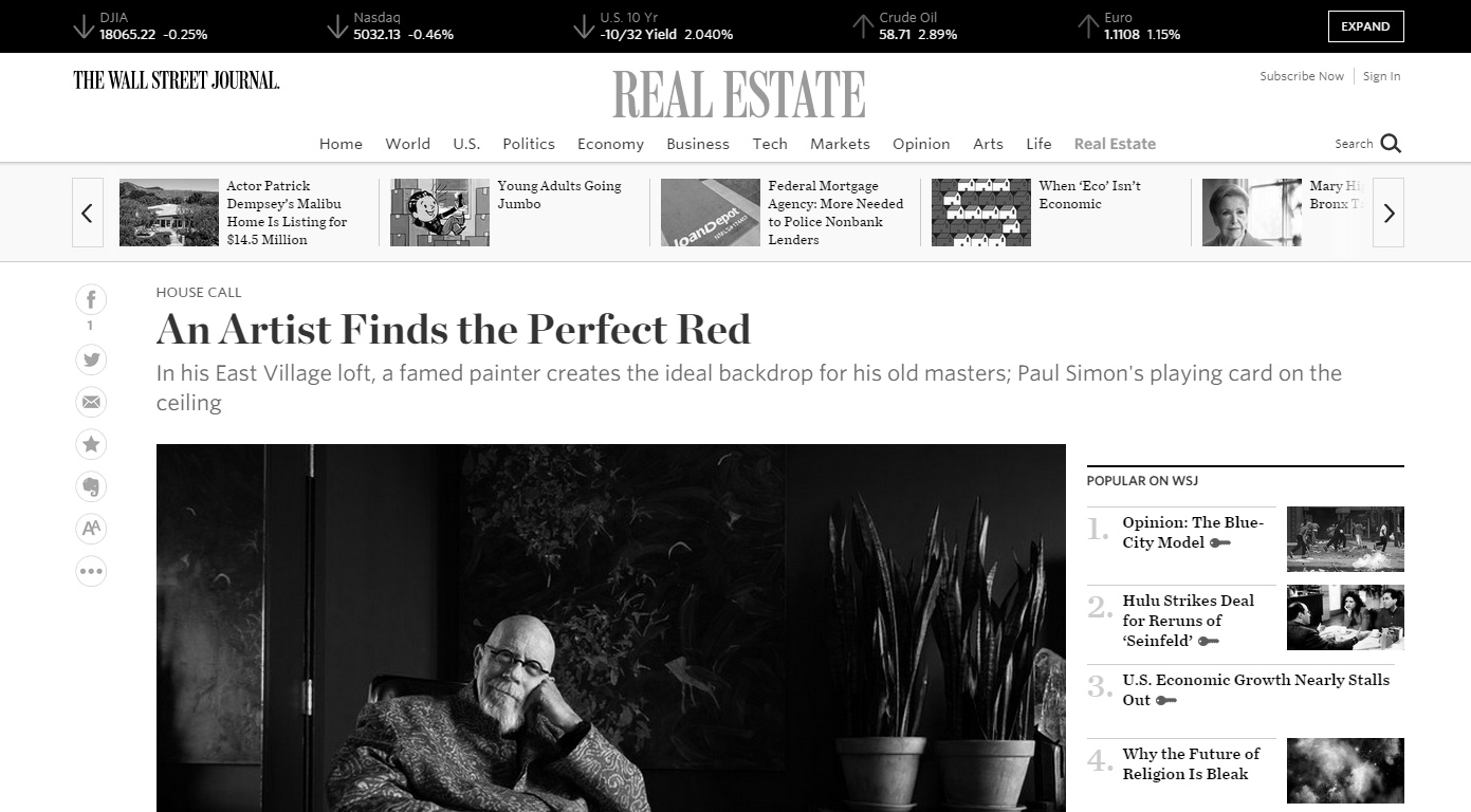 JB Benn in The Wall Street Journal